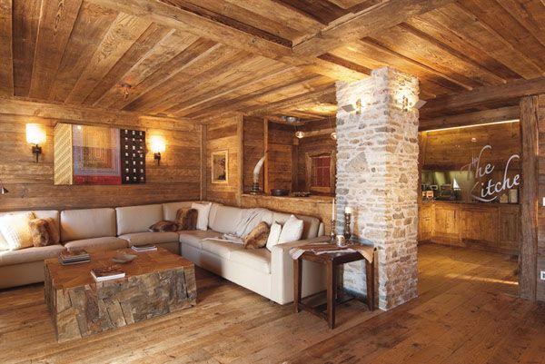 rustic modern decorating ideas Rustic-Modern Living Room Decor - wohnzimmer modern rustikal