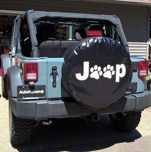 Amazon Com E Cowlboy Black Spare Tire Cover With Dog Paws Logo