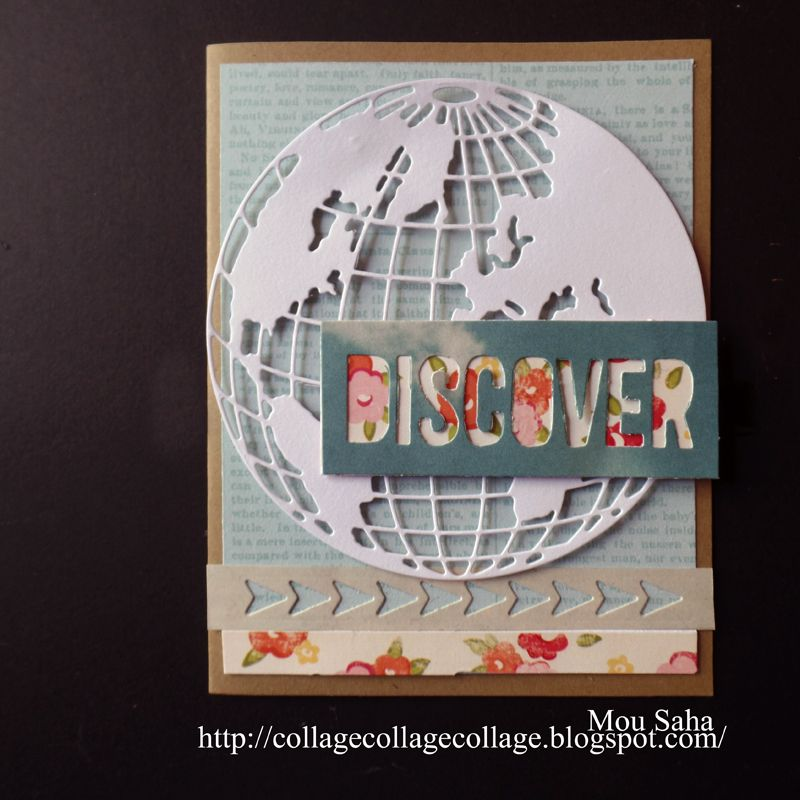 Sizzix Inspiration   Discover Card by Mou Saha