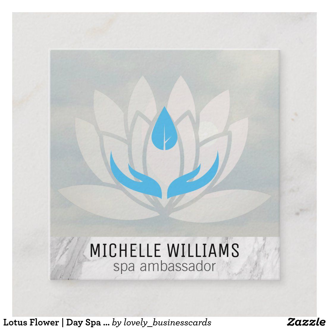 Lotus flower day spa massage therapist square business