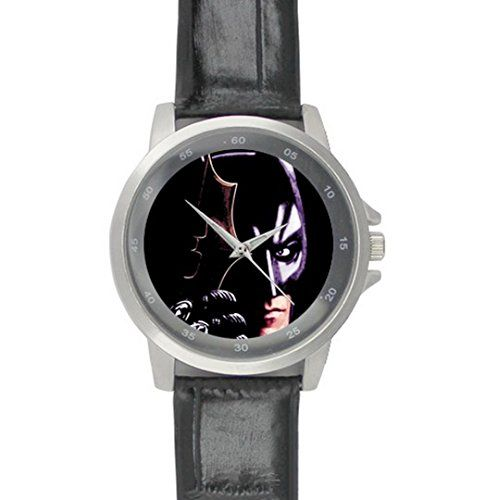 Black Leather Band Wrist Watch with Wear-Resisting Glass Batman Logo | Your #1 Source for Watches and Accessories