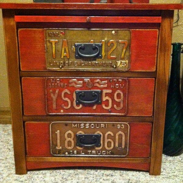 Etonnant License Plate Furniture