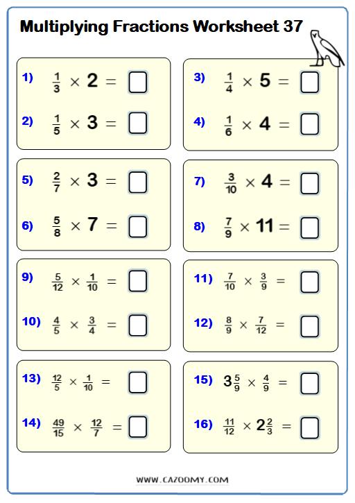 Multiplying Fractions Worksheet Fractions Worksheets Multiplying Fractions Worksheets Fractions