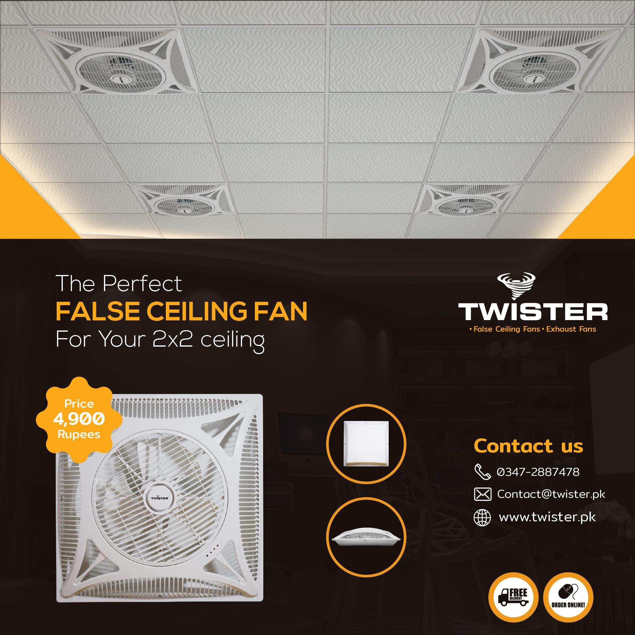 Twister Super Slim False Ceiling Fan 14 Price 4 900 Order