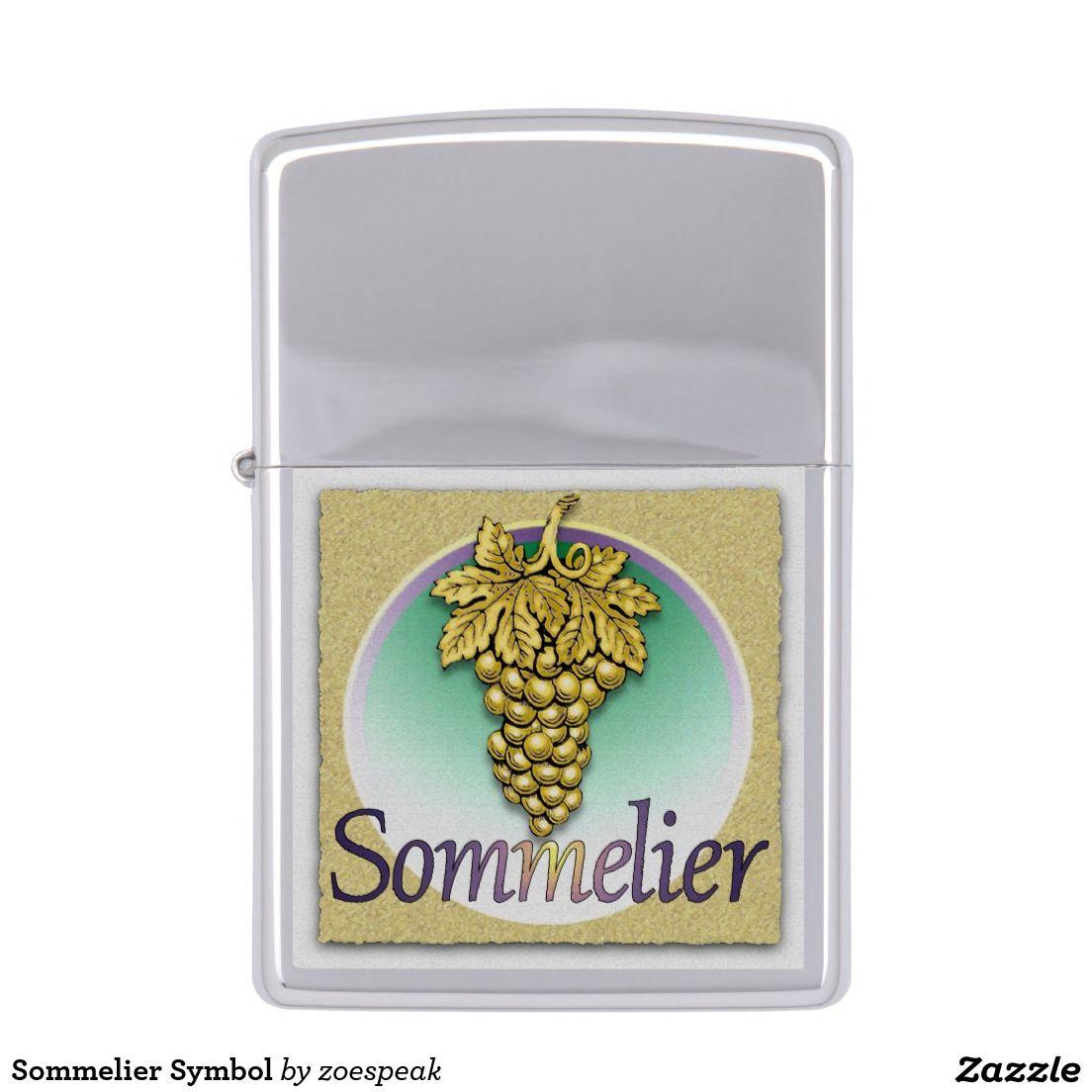 Sommelier Symbol Zippo Lighter from ZoeSPEAK