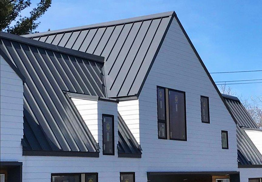 Pin By Janice Venza On Metal Roof In 2020 Standing Seam Metal Roof Residential Metal Roofing Standing Seam Roof