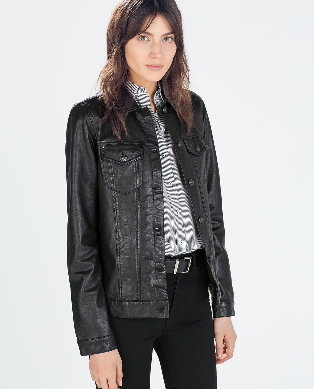 ZARA - COLLECTION AW14 - LEATHER JACKET