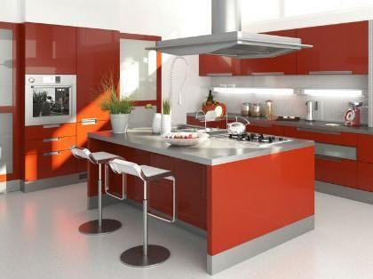 cocinas con islas modernas Cocinas Modernas Con Isla Central - cocinas con isla