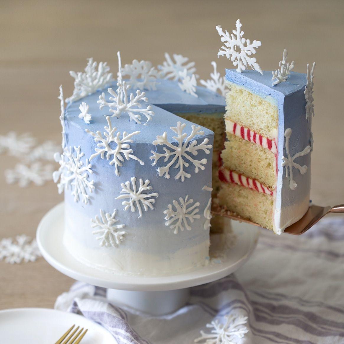 Snowflake Cake #christmas