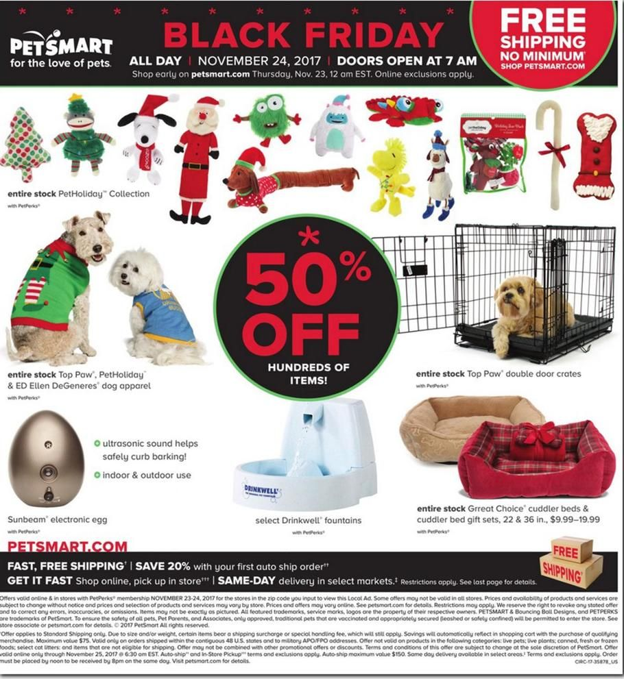 Petsmart Black Friday 2017 Ads And Deals Treat Your Pet To The Holiday Season It Has Always Wanted And Shop Petsmart Black Friday For The Huge Deals And Sales O
