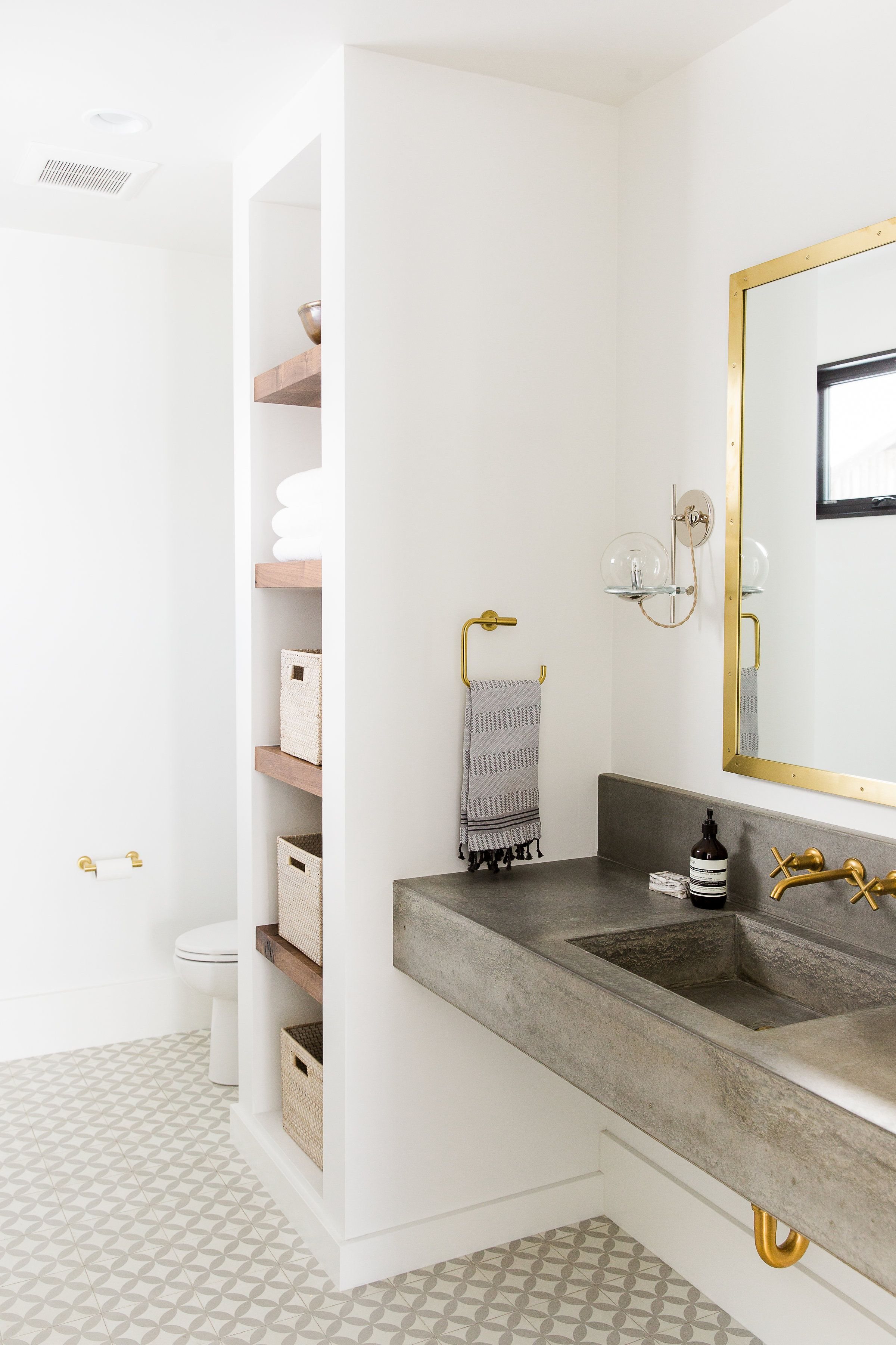 Modern Mountain Home Tour: Guest Wing in 2018 | Bathroom | Pinterest ...