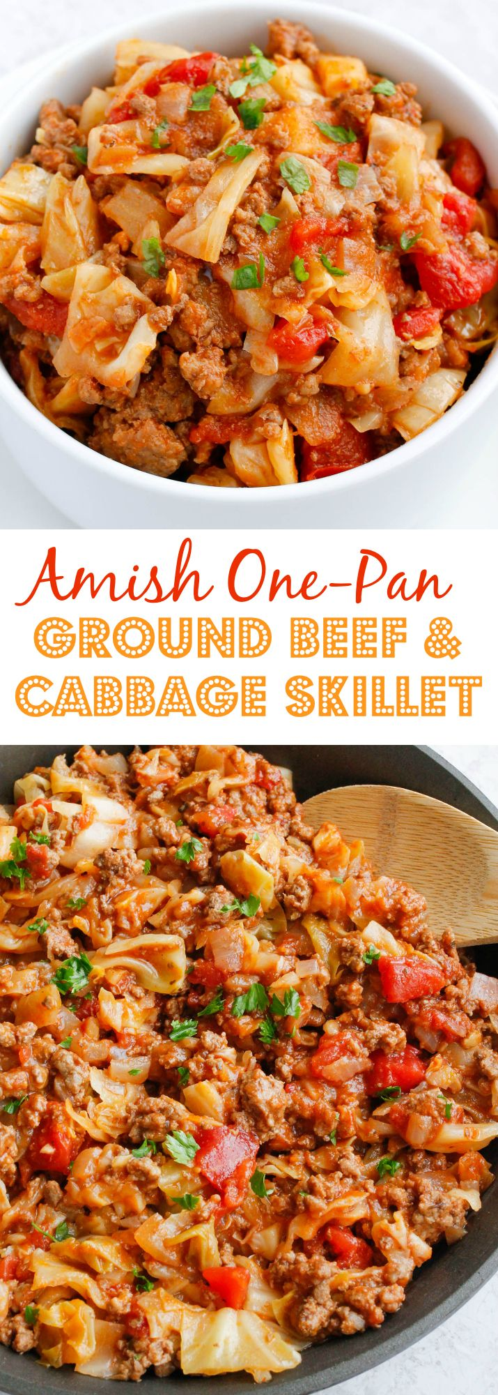 Amish One Pan Ground Beef And Cabbage Skillet Recipe Healthy Beef Recipes Ground Beef And Cabbage Cabbage Recipes