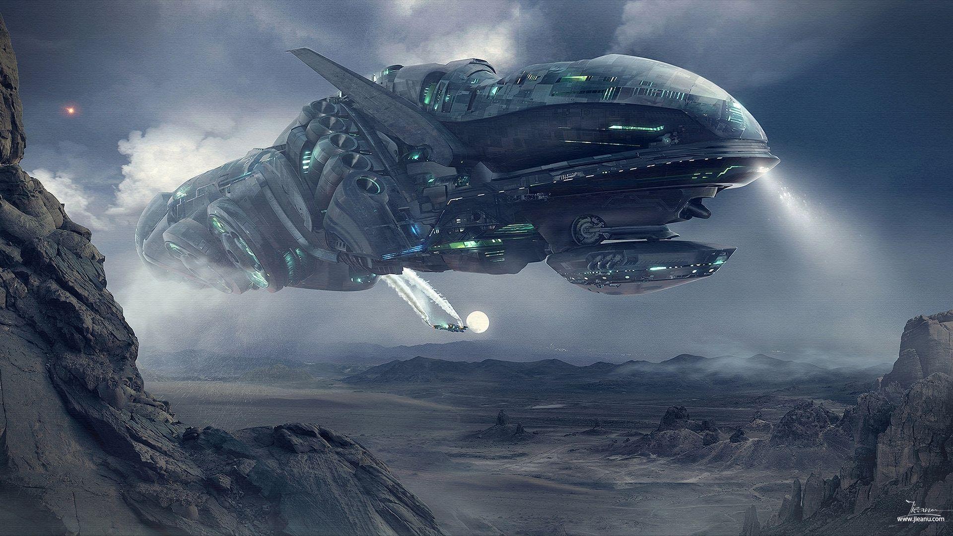 Sci Fi Spaceship Wallpaper Spaceship art, Alien