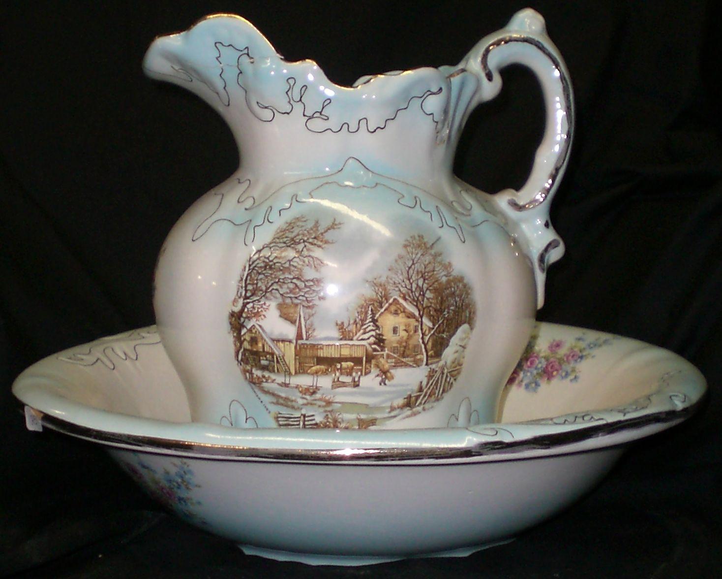 antique pitcher and bowl set google search pitcher and bowl sets pinterest. Black Bedroom Furniture Sets. Home Design Ideas