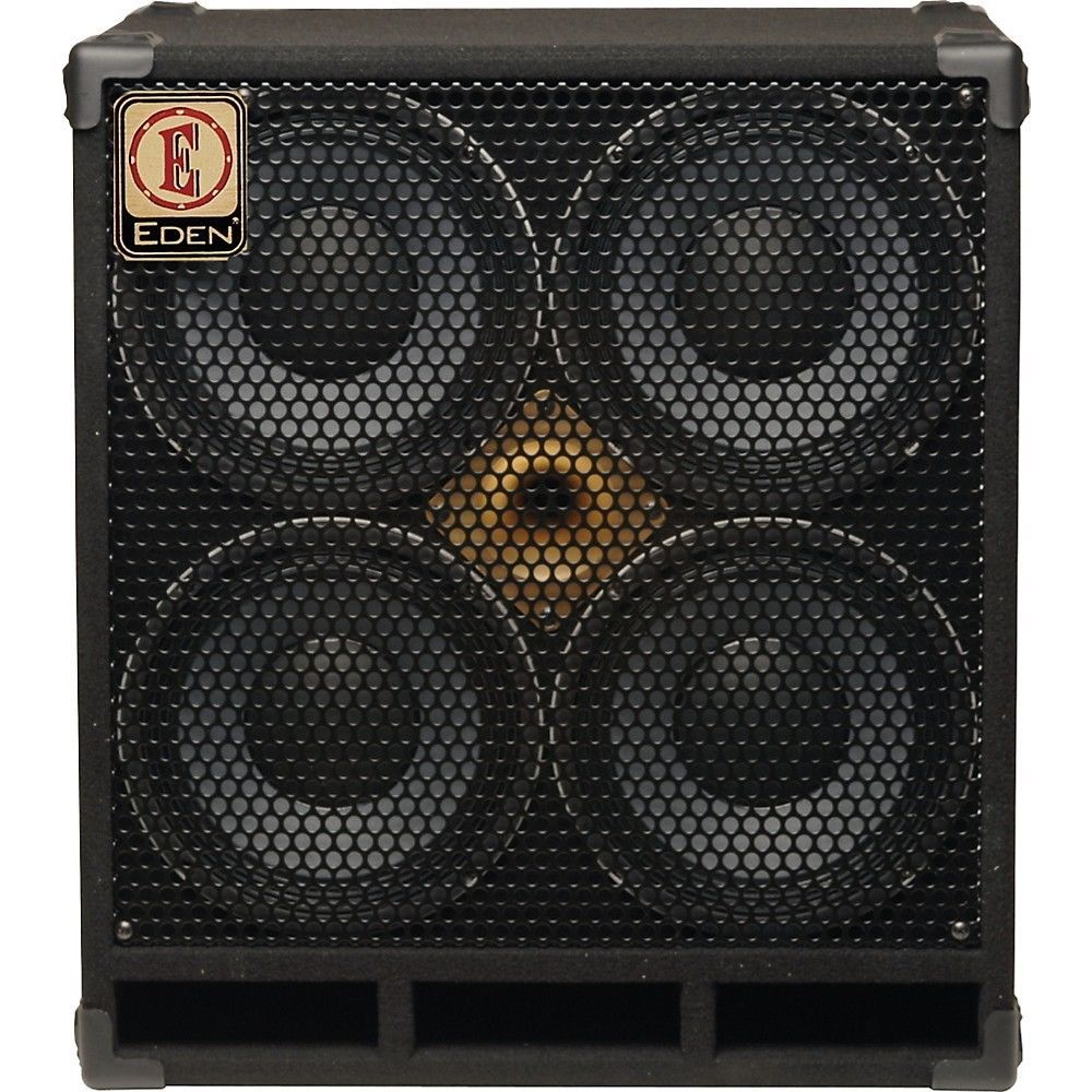 Eden D410xst 1000w 4x10 Bass Speaker Cabinet With Horn Black 8 Ohm Eden Speaker Speaker Cabinet Bass Amps