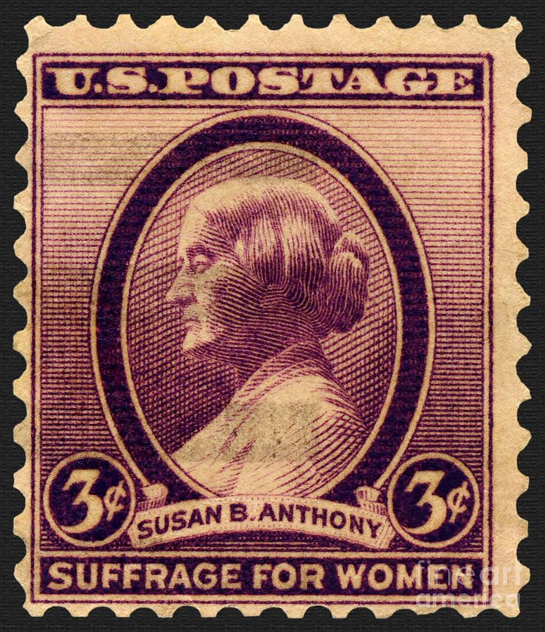 Susan B Anthony Commemorative Postage Stamp 1936
