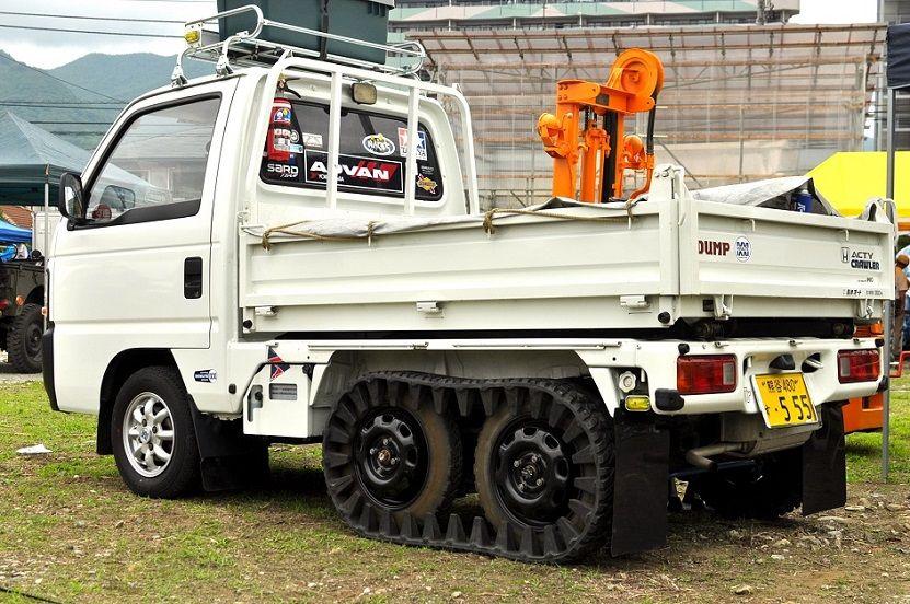 6輪の軽トラック ホンダ アクティ クローラ ダンプ仕様 ミニ