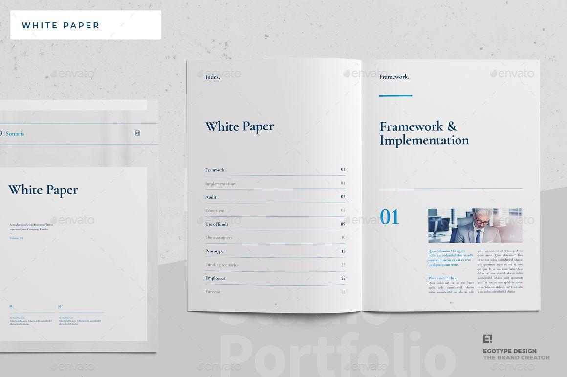 White Paper White Paper Brochure Template Paper