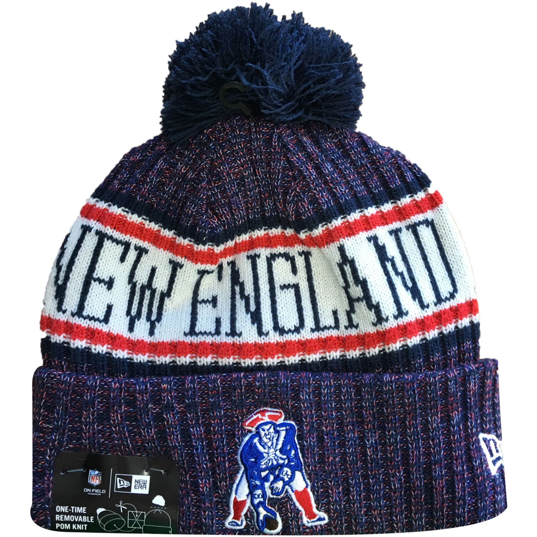 Rep The Pats With The 2018 On Field New England Patriots Sideline Beanie Available Online At Capswag Com N Knitted Hats Knit Hat For Men New England Patriots