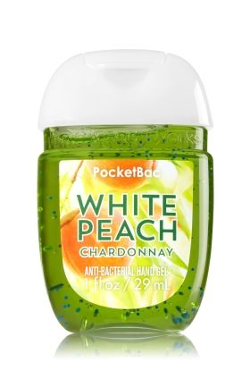 White Peach Chardonnay Pocketbac Sanitizing Hand Gel Bath