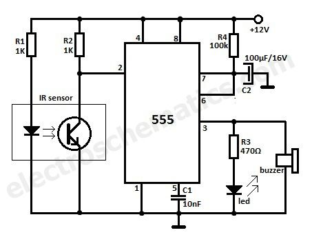 69ca587f0f6435ad4b36f2832fa610ca motion detector ir reflection alarm circuit eletr�nica pir motion detector circuit diagram at soozxer.org