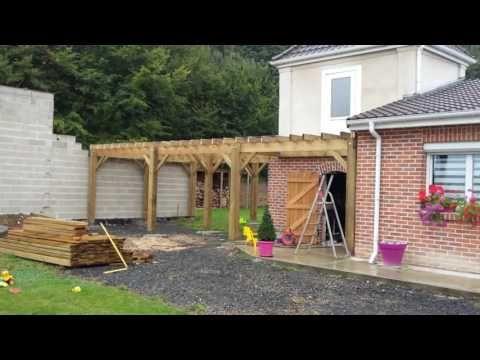 Construction terrasse bois sur pilotis - YouTube Terrasse