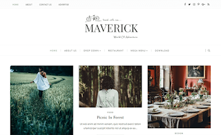 Maverick Grid Blogger Template Blogger Pinterest Blogger