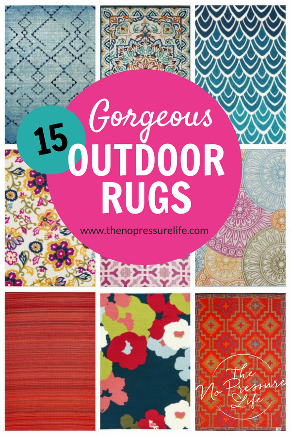 15 Colorful Outdoor Rugs That Will Make Your Porch Pop Outdoor
