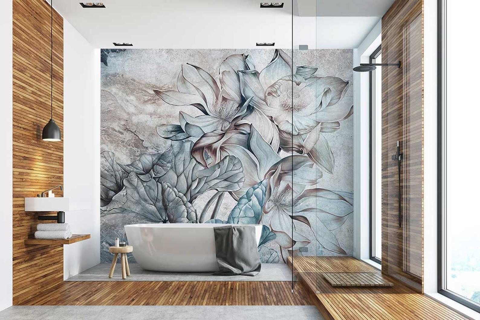Calipso Customized Unique Wallpaper Removable Washable And Reusable In 2021 Unique Wallpaper Design Bathroom Design Small