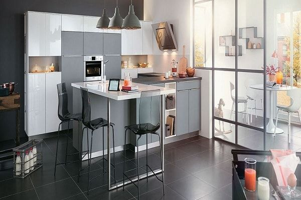 cuisine am ricaine des id es pour un am nagement ouvert cuisines kitchens pinterest. Black Bedroom Furniture Sets. Home Design Ideas