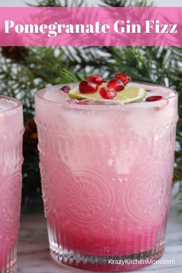 Photo of Pomegranate Gin Fizz Cocktail | Krazy Kitchen Mom