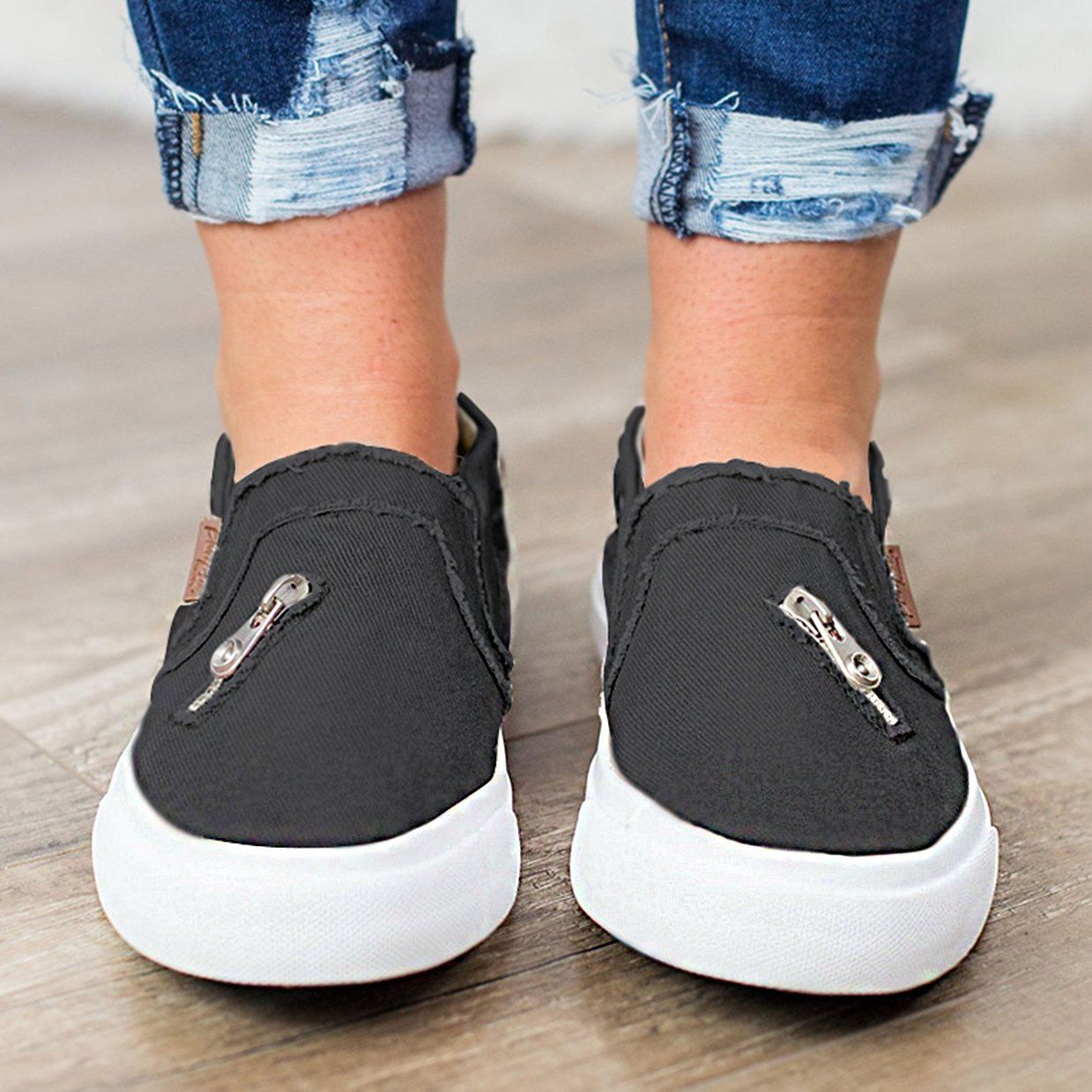Fashion Lightweight Slip On Flat Canvas Sneaker Casual Shoes Loafers