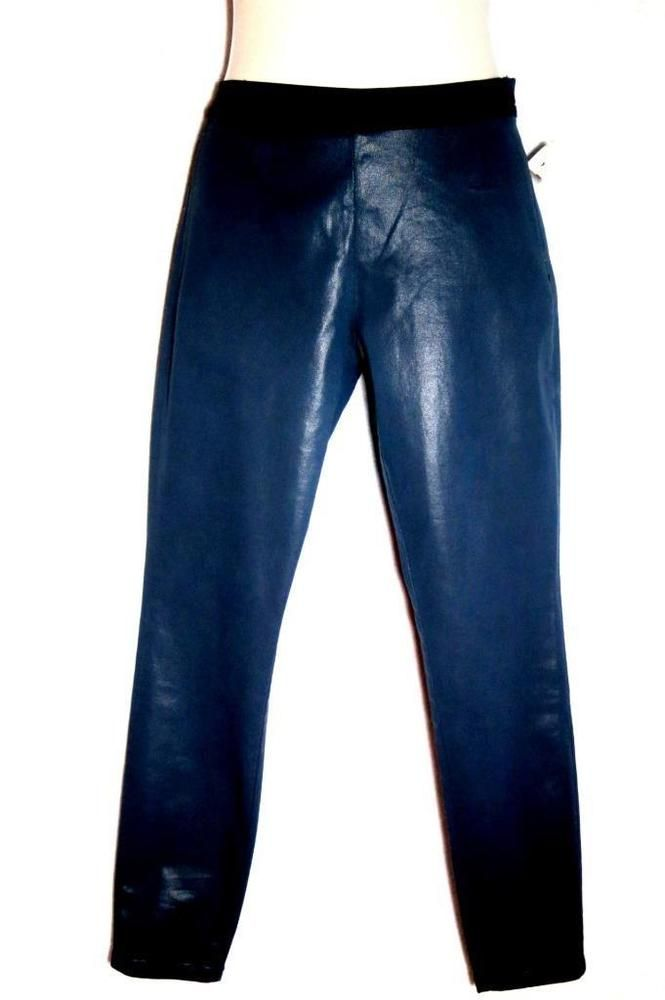 Victoria's Secret Blue Coated Denim Leggings Jeggings Slim Fit Skinny Jeans Sz 6 #VictoriasSecret