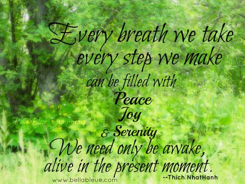Thich Nhat Hanh Quote by Bella Bleue Serenity quotes