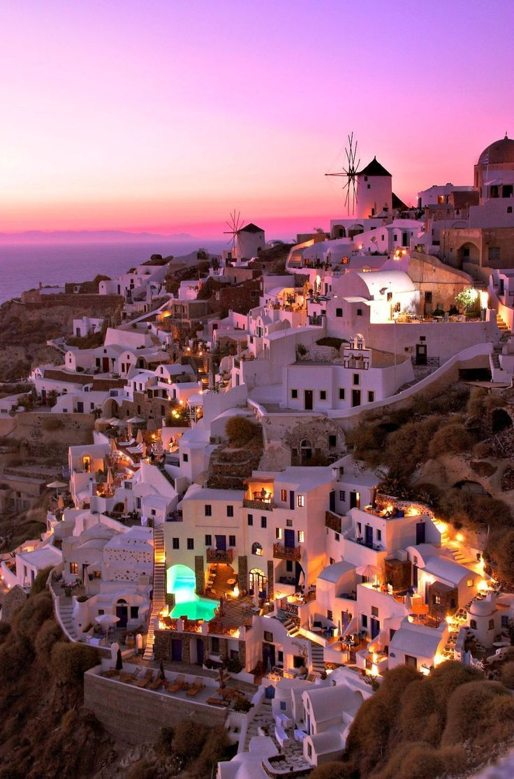 The romance and drama of #Santorini's breathtaking landscapes, along with its quaint villages and awe-inspiring backdrops of whitewashed houses with pretty blue domes, create a magical land for honeymooners and romantics in search of unforgettable moments.