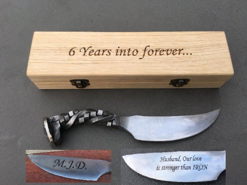 6 year anniversary railroad spike knife 6th anniversary