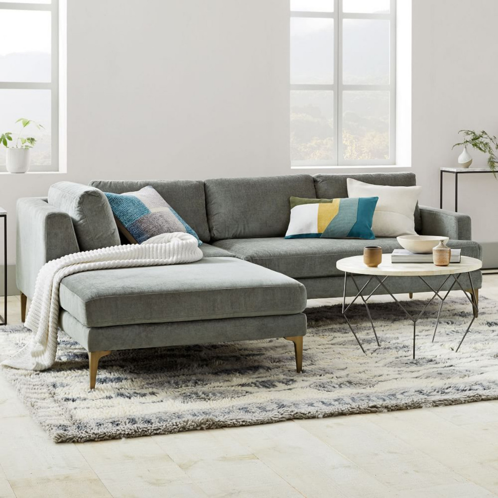 Best Andes 3 Piece Chaise Sectional Mineral Grey Distressed 400 x 300