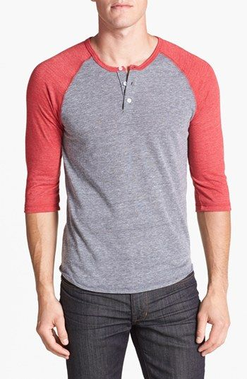 Alternative Trim Fit Heathered Raglan Henley available at #Nordstrom