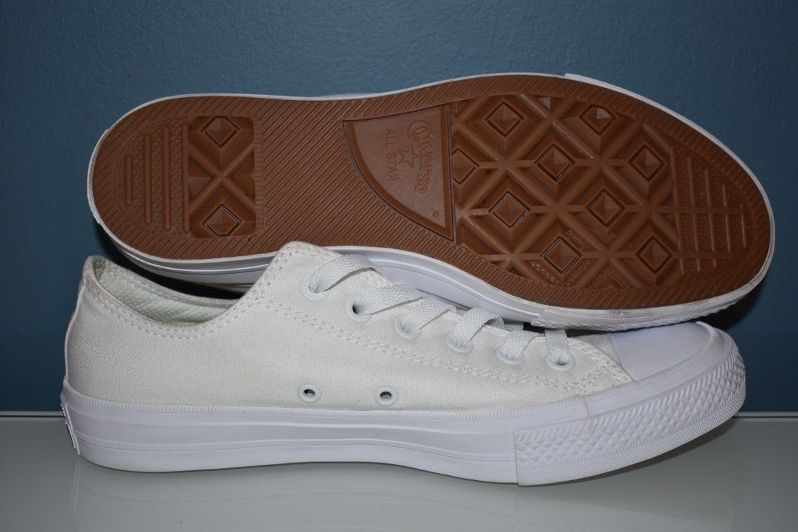 c1b06c3a539c Converse All Star Chuck Taylor II 2 Lunarlon 9 Low White Ox Worn ONLY ONCE!