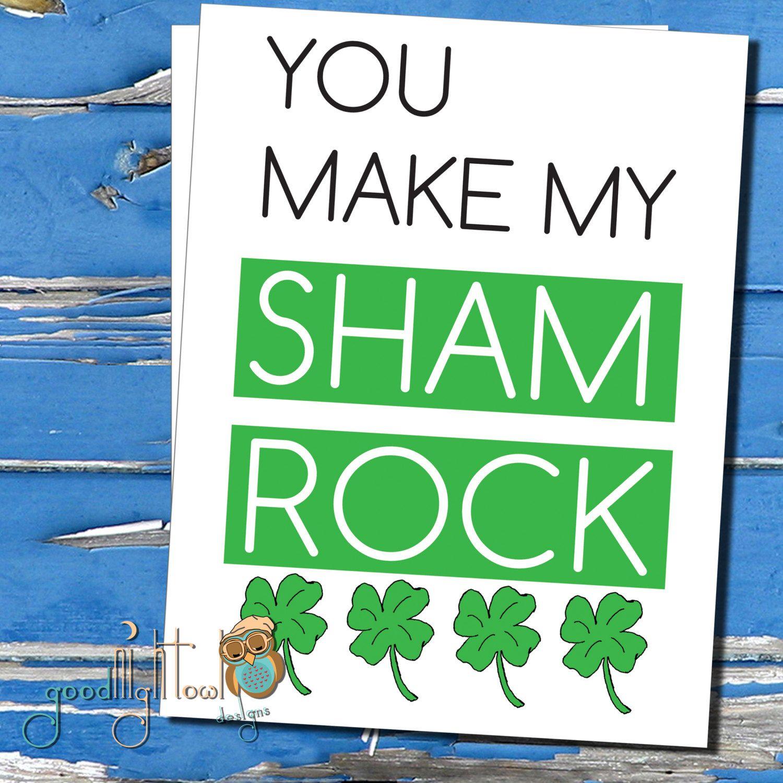 St patties greeting card you make my sham rock funny st st patties greeting card you make my sham rock funny st kristyandbryce Choice Image