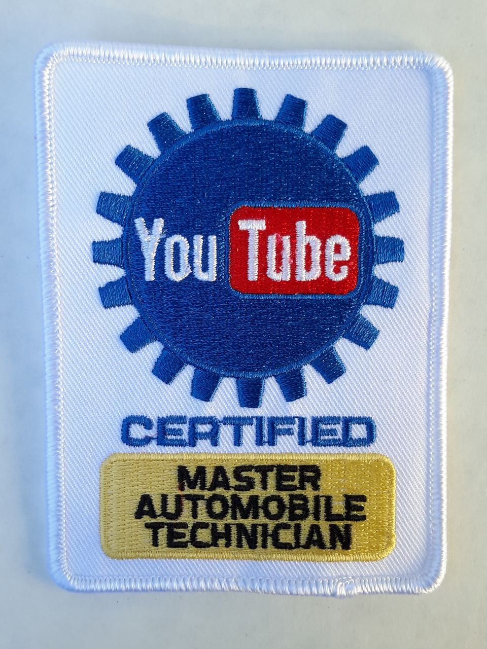 Youtube Certified Master Automobile Technician Mechanic Patch