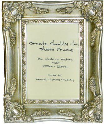 Antique Silver Shabby Chic Ornate Swept Vintage Picture Frame For A