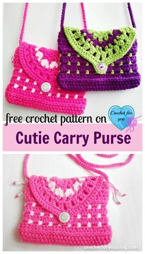 Free Crochet Cutie Carry Purse Pattern Free Crochet Purse And Crochet