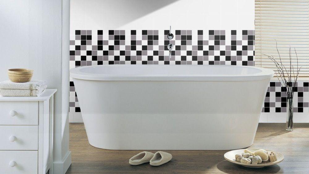 Des idées déco pour une salle de bains en noir et blanc