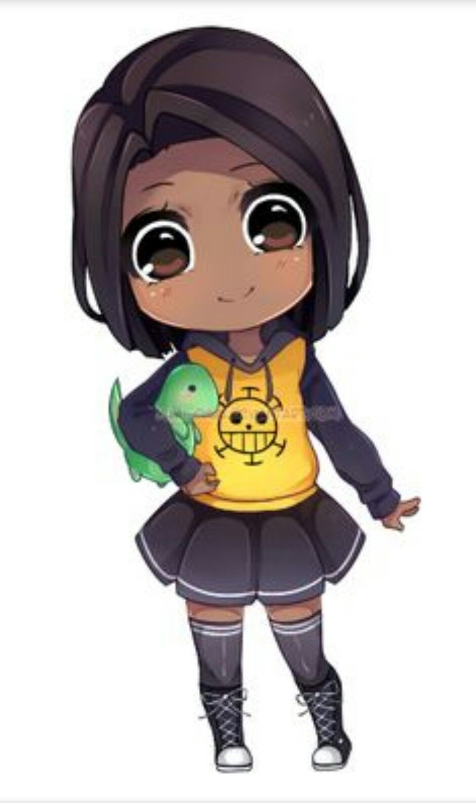 Image result for chibi black girl