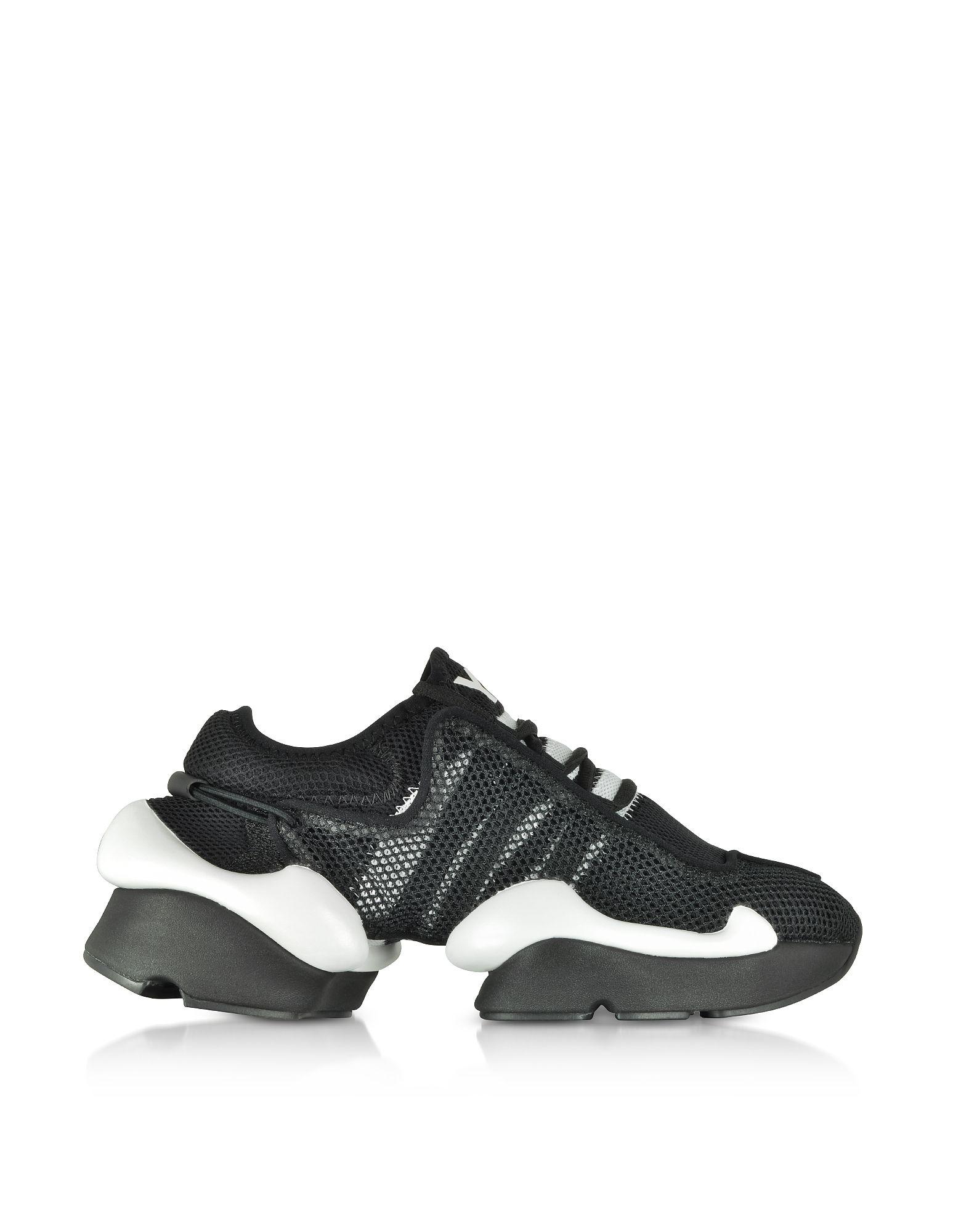 b13fe6de1 Y-3 BLACK RAITO RACER SNEAKERS.  y-3  shoes