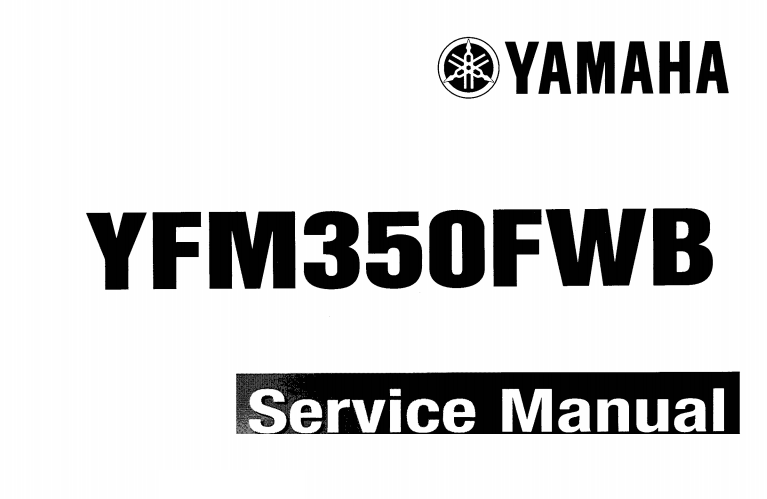 Yamaha Big Bear YFM350FWB YFM350WBJ Service Manual