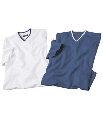 Lot De 2 Tee-Shirts Col V #avis #discount #livraison #commande #winter #canada