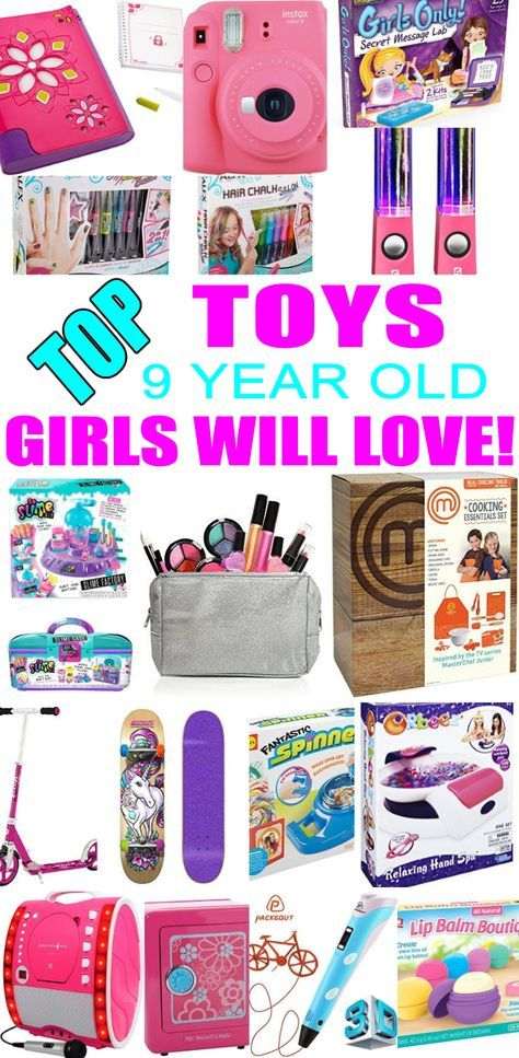Top Toys For 9 Year Old Girls! Best toy suggestions for gifts & presents  for a girls ninth birthday, Christmas or just because. Find the best gifts  and toys ... - Best Toys For 9 Year Old Girls Eden Party Presents Pinterest