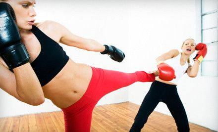 Intro To Women S Kickboxing Class Or 5 Or 10 Personal Training Sessions At Shaku Family Martial Arts Up To 75 Off Kickboxing Classes Kickboxing Self Defense Classes